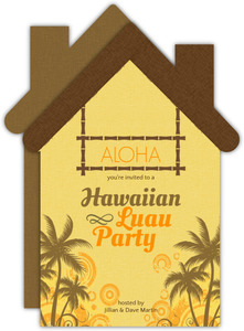 Hawaiian Luau Party House Card