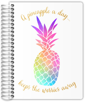 Watercolor Pineapple Daily Planner