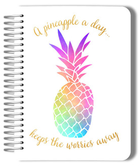 Watercolor Pineapple Monthly Planner