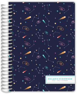Whimsical Constellation Pattern Daily Planner