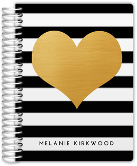 Modern Love Faux Foil Heart Monthly Planner