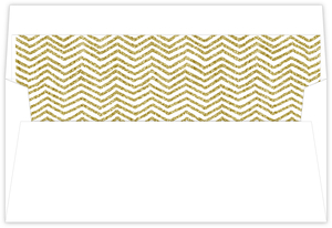 Gold Glitter Chevron Pattern Envelop Liner