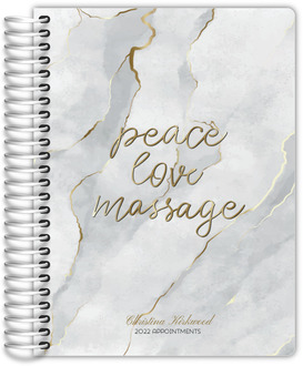 Pink and Navy Ikat Pattern Custom Daily Planner