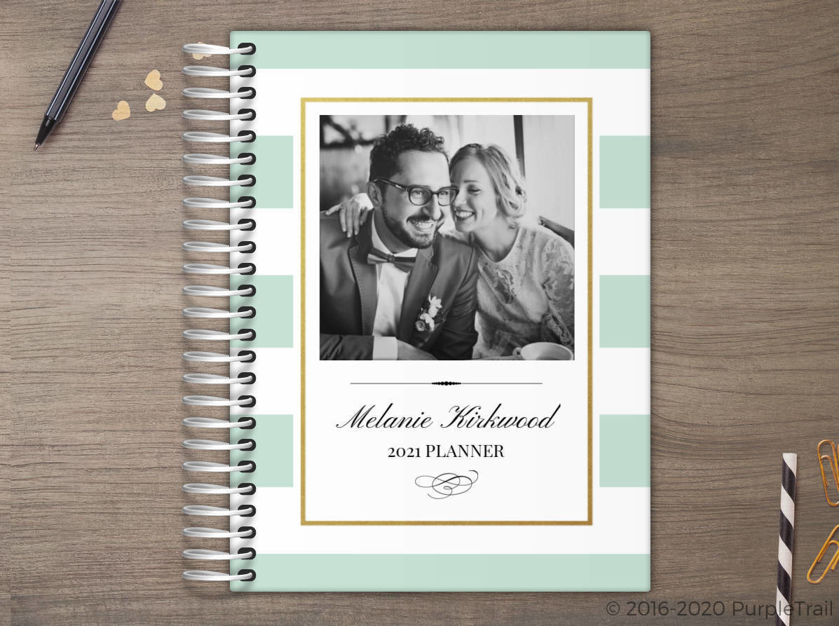 Classic Mint And Gold Frame Custom Daily Planner Daily Planners - Custom daily planner