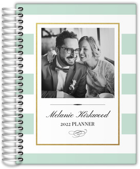 Classic Mint and Gold Frame Custom Daily Planner