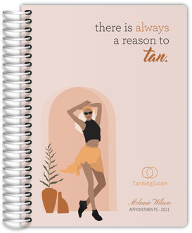 Retro Vibes Monogram Custom Monthly Planner