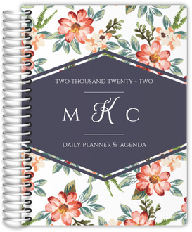 Delicate Watercolor Floral Custom Daily Planner