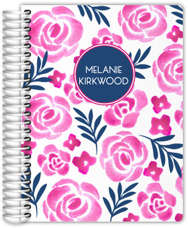 Pink Watercolor Floral Daily Planner