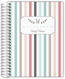 Colorful Pinstripe Custom Daily Family Planner