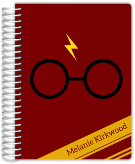 Red & Yellow Stripes Wizard Custom Daily Planner