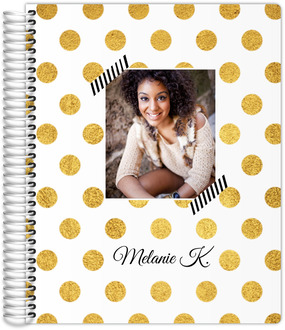 Classic Golden Polka Dot Custom Daily Photo Planner