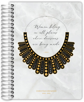 Women Belong in All Places Faux Foil Daily Planner
