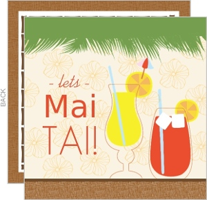 Let S Mai Tai Tropical Drink Luau Invite