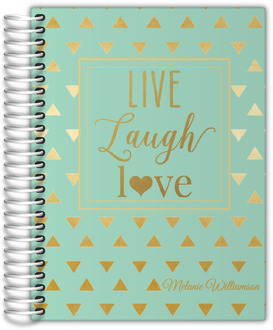 Faux Gold Foil Triangle Quote Custom Monthly Planner