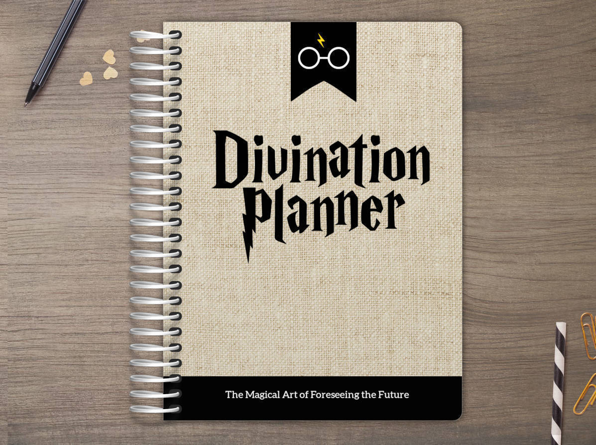 Antique Burlap Divination Daily Planner Daily Planners - Custom daily planner