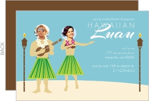 Funny Hula Photo Luau Invitation