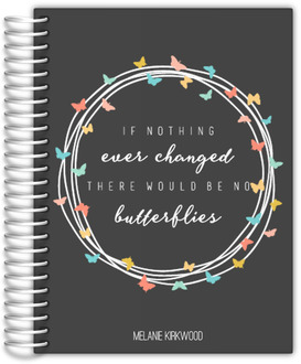 Butterfly Quote Custom Monthly Planner