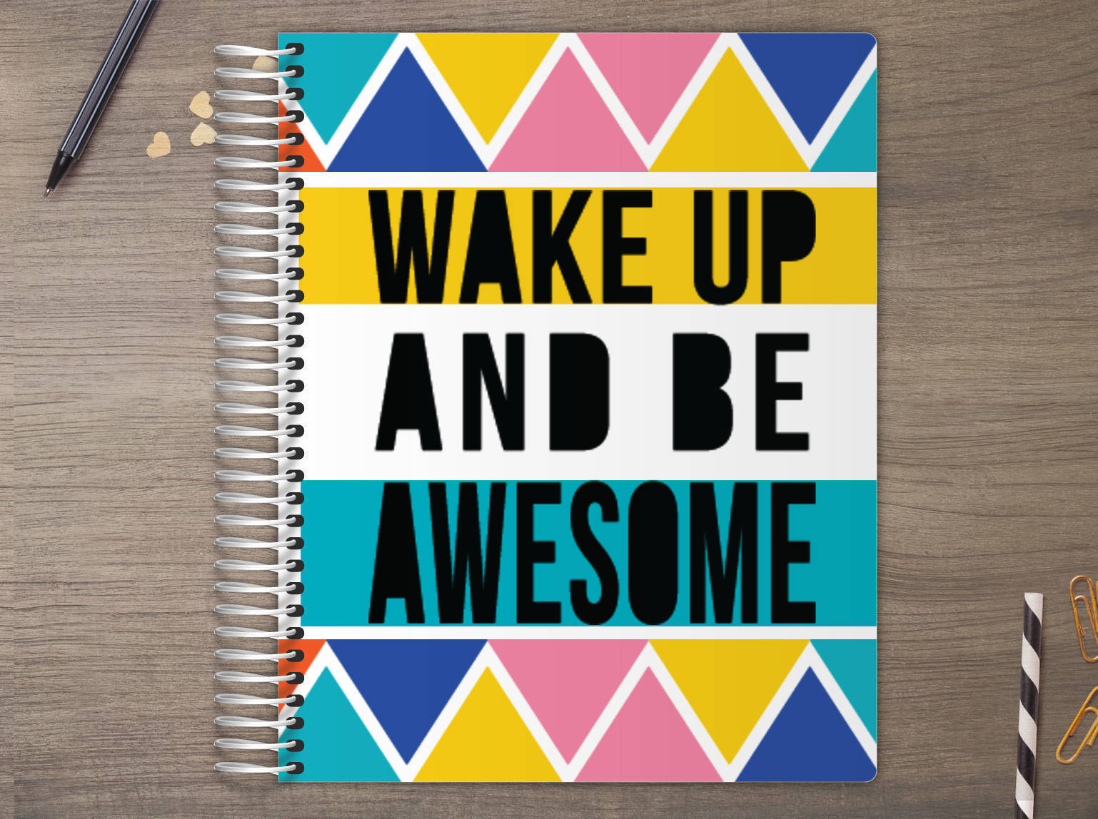 Wake Up Be Awesome Custom Daily Planner Daily Planners - Custom daily planner