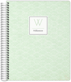 Mint Green Art Deco Pattern Custom Daily Planner