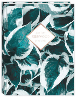 Blue Pothos Pattern Daily Planner