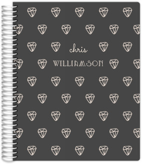 Sketchy Diamond Pattern Daily Planner