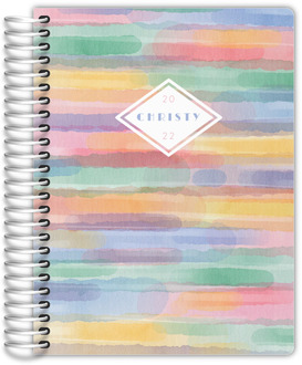 Colorful Horizontal Watercolor Daily Planner