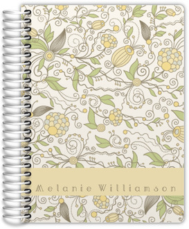 Whimsical Yellow Floral Daily Planner