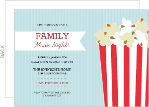 movie night invitations and watch a thon invites