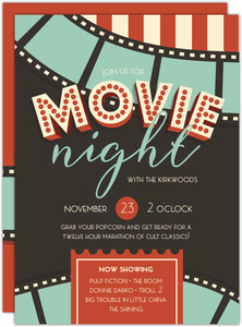 Vintage Film Strip Movie Night Invitation