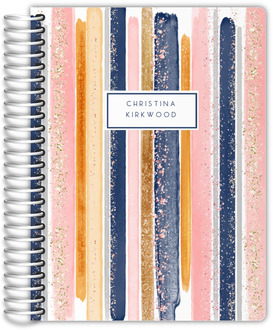 Peach Chevron Custom Daily Photo Planner