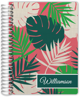 Tropical Palm Print Daily Planner
