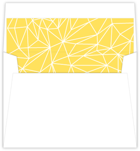 Gray And Yellow Faceted Geometric Pattern Envelope Liner