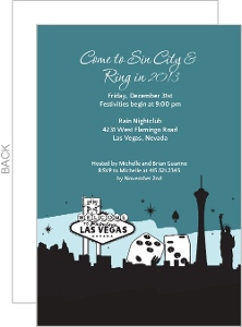 Las Vegas Skyline Casino Party Invitation