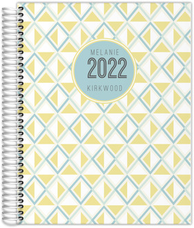 Bold Diamond Pattern Custom Daily Planner