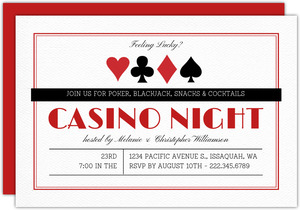 Simple & Modern Poker Night Invitation