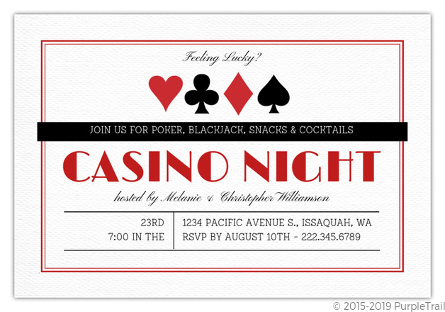 casino theme party invitations template