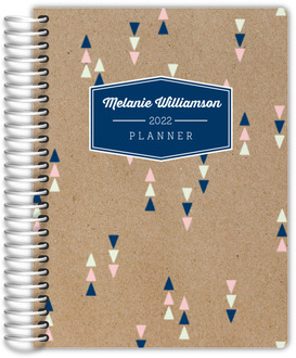 Kraft Mod Triangles Custom Daily Planner