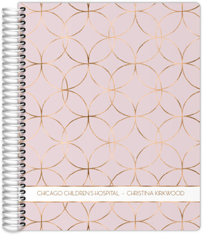 Rose Gold Circle Pattern Daily Planner