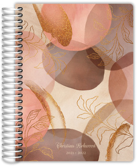 Lavender Hexagon Pattern Custom Daily Planner