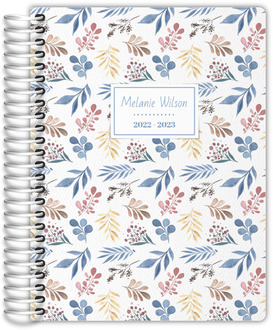 Whimsical Watercolor Foliage Daily Planner