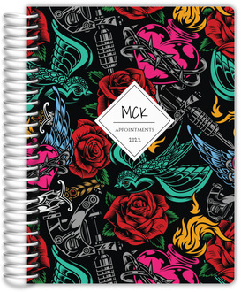 Cute Sleeping Kitten Custom Monthly Planner