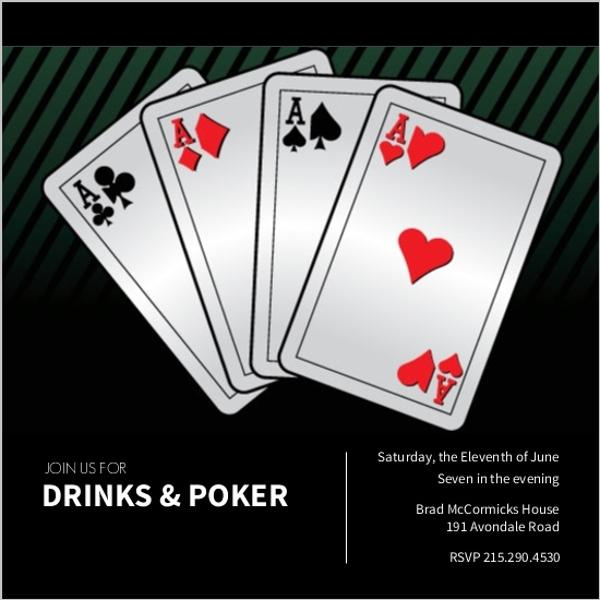 Poker night invitations and casino party invites poker party invitations stopboris Image collections
