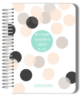Stand Out Confetti Custom Monthly Planner