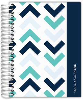 Aqua Navy Chevron Custom Daily Planner