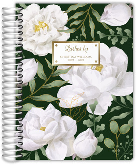 Vintage Rose Monogram Custom Daily Planner