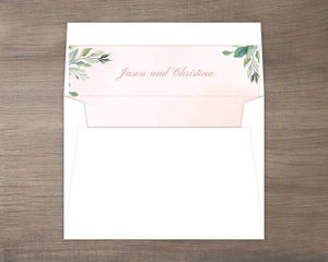 Blush Floral Arrangement Envelope Liner