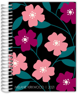 Bold Floral Custom Daily Planner