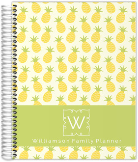 Pineapple Monogram Daily Family Planner