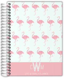 Pink Watercolor Flamingo Custom Daily Planner