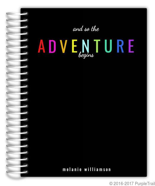 The Adventure Begins Custom Daily Planner Daily Planners - Custom daily planner
